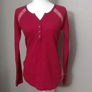 Lucky Brand Ted tribal Thermal Henley Like new